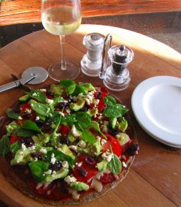 Low Carb Sunflower and Linseed Flour Pizza