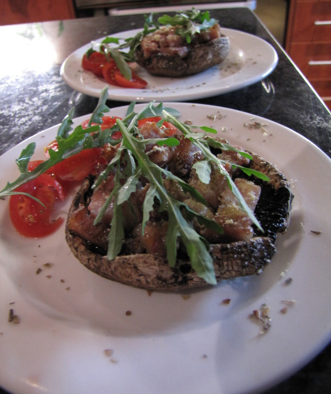 Plated mushrooms