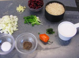 Rice and Peas Ingredients